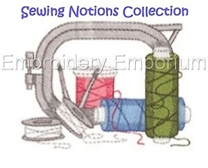 SEWING NOTIONS COLLECTION - MACHINE EMBROIDERY DESIGNS ON CD OR USB