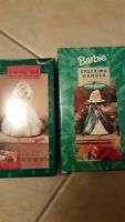 New 1996 Hallmark & 1995 Happy Holidays Barbie Christmas Stocking Hangers
