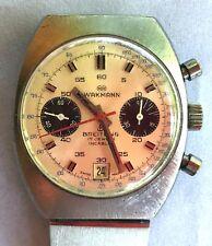 Vintage WAKMANN BREITLING CHRONOGRAPH Charles Gigandet Wristwatch