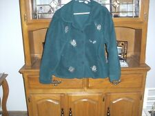 ladies north crest size ( L ) green with embroidery work jacket