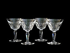 4 Baccarat Crystal Carcassonne Champagne Sherbet Glasses