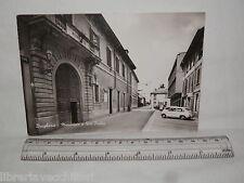 Vecchia cartolina foto d epoca di Brugherio Municipio e Via Italia strada scorci
