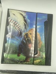 Vintage 1991 Mead Portfolio Notebook No Rules Bear With Baseball NEW