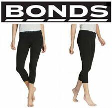 Womens Bonds Black 3/4 Leggings Gym Sports Pants Ladies Cotton  Xs S M L Xl Xxl
