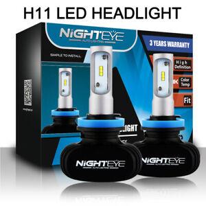 2x Nighteye H11/H8/H9 50W 8000LM LED Headlight Conversion Kit Bulbs 6500K White