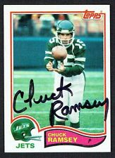 Chuck Ramsey #178 signed autograph auto 1982 Topps Football Trading Card