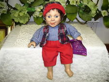 GIGO Expression Doll Red Knickers Plaid Vest and Hat