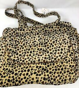 Victoria Secret Animal Leopard Print Travel Duffle Bag NWT