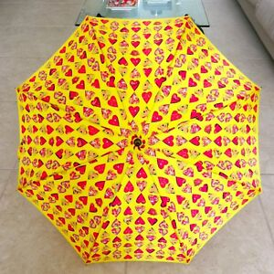 GIANNI VERSACE yellow umbrella Heart print inspired by Jim Dine from 1997