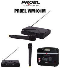 Proel WM101M radio microfono wireless x presentatori karaoke animatori +bauletto