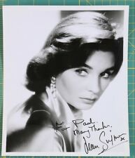 Jean Simmons Signed  Inscribed Autograph Photo 8 x 10 black and white