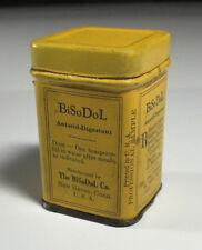 Vintage Medicine BiSoDoL Professional Sample Tin With Paper Label Circa 1930