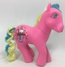 Vintage G1 My Little Pony Chocolate Delight Sippin Soda Ponies Ice Cream Sodas