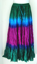 12 YARD MULTICOLOURED INDIAN COTTON BOHO GYPSY HIPPIE BELLY DANCING SKIRT