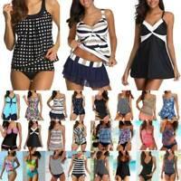 Plus Size Womens Bikini Set Tankini Swimwear Swimsuit Summer Beach Bathing Suit