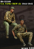 1/35 Scale Resin Figure Model Kit U.S. Tank Crew (2) 1944-45 B6-35109
