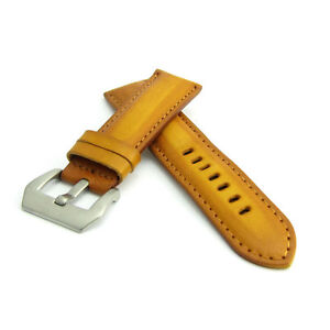 Saddle Tan Leather Watch Strap Panerai Style (Steel, 22mm, 24mm) CZ0968
