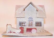 Vintage Christmas House Train Yard Putz Display White Brick Fence #117 Made Usa