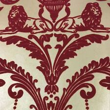 Arthousevintage Damask Flock Velvet Regal Red Textured Wallpaper 952003