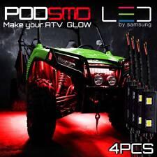 4 Pods Red Led Lights Rock Body Light Atv Utv for Polaris
