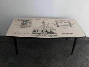 Rare 1950's/1960's John Piper ? Formica Coffee Table Vintage Modernist