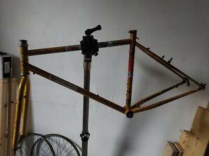 Retro vintage Kona Lavadome frame Project 2 forks Murray Brodie splatter tbg
