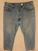 vtg usa Levi's 505 fit jeans 38 x 30 tag light wash faded distressed grunge 90s*