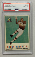 1959 Topps Football #140 Bobby Mitchell PSA 4 VG-EX RC ROOKIE Cleveland Browns