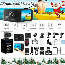 XMAS GIFT New Akaso V50 Pro SE 4K Ultra HD 20MP Action Sports Camera Kit EIS DHL