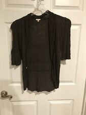 Womens Maurices Brown Cardigan 3/4 Sleeve
