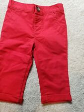 Old Navy Baby Unisex Pants size 6-12 mo, red, cotton,