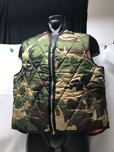 Hunting Vest Camo Camoflauge Zip Up One Size Fits Most KG Unbranded