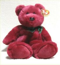 "Large 14"" Ty ""Teddy"" Bear (Cranberry Version), Beanie Buddy Original, LNWT"