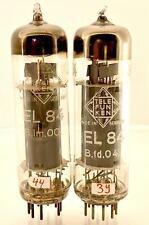 2 x EL84 Telefunken Berlin 6BQ5  Made in Western Germany -  first production