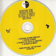 HIEROGLYPHIC BEING Disco's Of Imhotep Radio Sampler 2016 UK 4-trk promo test CD