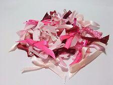 50 Mixed Pinks Bows Satin Ribbon Trim Card Making Scrapbooking Home Decor