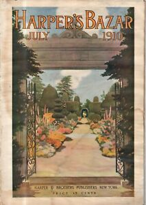 1910 Harpers Bazar July Extremely Rare - Letter from a gypsy; Amateur Nurse