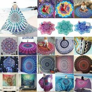 Indian Mandala Tapestry Wall Hanging Bedspread Ethnic Throw Blanket Mats & Decor