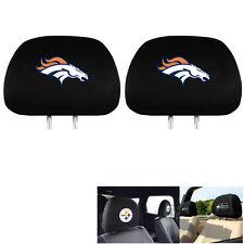 New Team ProMark NFL Denver Broncos Head Rest Covers For Car Truck Suv Van