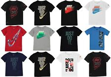 New Nike 2019 Infant Boys Nike T Shirt Swoosh Top Size Age 2-7 FROM £8.99