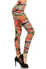 New Women's Camo Leggings Yoga Workout Pants OS S - L