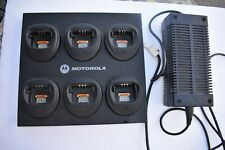 Motorola CP200, Pr400 Gang Charger WPLN4171A CP200 with Power Supply and Cables