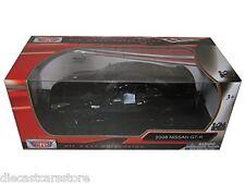 MOTORMAX NISSAN GT-R GLOSSY BLACK 1/24 New In BOX Diecast Car 73384BK