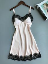 US Women Sexy-Lingerie Sleepwear Satin Silk Babydoll Lace Nightwear Pajamas Set