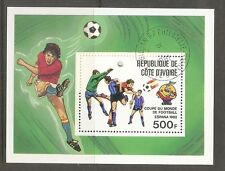 Ivory Coast SC # 605 World Cup , Spain 1982 . CTO. MNH