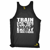 Train Like Your Worst Enemy Is Watching Uni Vest Gym Training birthday gift