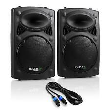 "Ibiza Pair PA Speaker System Surround Sound 10"" Sub 900 W USB SD Mp3 Play DJ"