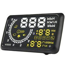 """W02 5.5"""" Car OBD-II HUD Head Up Display Overspeed Warning Engine Speed Alarm"""
