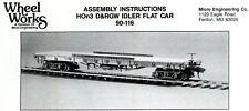 HOn3 Kit D&RGW Idler Flat Car, Wheel Works,Guaranteed Mint & Complete