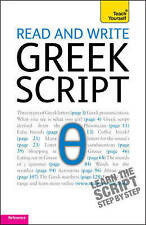 Read and Write Greek Script: Teach Yourself, Very Good Condition Book, , Is, Cou